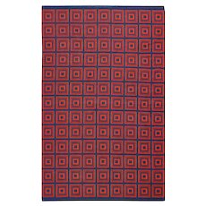 Vintage Double Sided Swedish Kilim 48428