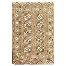 Earthtone Afghan Carpet ,6 ft 7 in x 9 ft 7 in (2.01 m x 2.92 m)