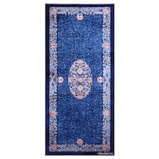 Over-sized Blue Chinese rug ,  11 ft 1 in x 24 ft 6 in (3.38 m x 7.47 m)