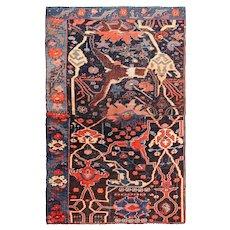 Small Collectible Antique Persian Sampler Rug