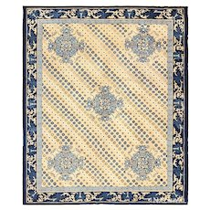 Decorative Room size Chinese carpet ,8 ft x 9 ft 5 in (2.44 m x 2.87 m)