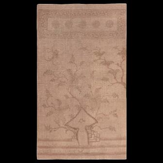 Brown Antique Mongolian Flat Weave Kilim Rug 49801