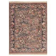 Vintage Birds of Paradise English Wilton Rug 49815