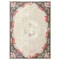Room Sized Antique American Hooked Rug 50292