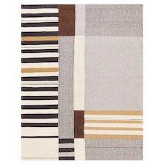 Vintage Flat Woven Kilim Carpet By Artist Alice Kagawa Parrott 70026
