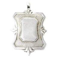 1945 Vintage Birmingham Sterling Silver Medal Pocket Watch Fob Pendant