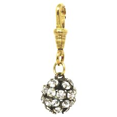 Small Edwardian Paste Rolled Gold Disco Ball Charm