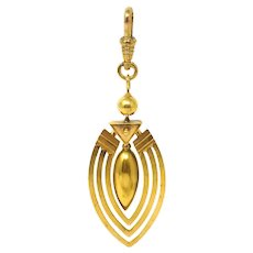 Exquisite Rare Victorian 24k Buttery Yellow Gold Pendant