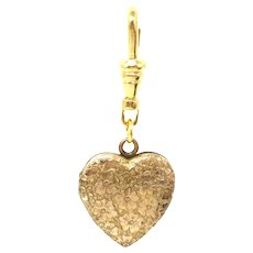Vintage Forget Me Not Flowers Rolled Gold Heart Locket Pendant