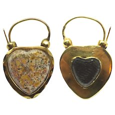 Victorian 18k Scottish Aberdeen Granite Mourning Padlock Pendant
