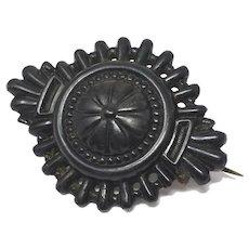 Victorian Reg. 1889 Mourning Pin Brooch
