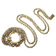 Antique 9ct Yellow Gold Filled Small Fancy Links Long Chain Necklace