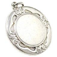 1961 Vintage Birmingham Solid Sterling Silver Medal Pocket Watch Fob Pendant