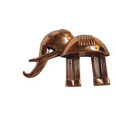 Scarce Renoir Signed Copper Elephant Brooch