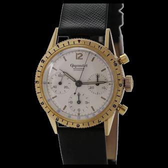Wakmann Gigandet Gold-Plated Incabloc Chronograph Wristwatch, circa 1960s