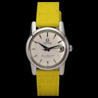 Solvil et Titus Stainless Steel Super Transistor Automatic Wristwatch, c 1960s