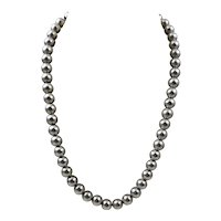 Vintage Matte or Satin Finished Classic and Modern Sterling Silver Bead Necklace