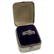 Vintage 1930s Sterling Silver Engagement Ring Presentation Box