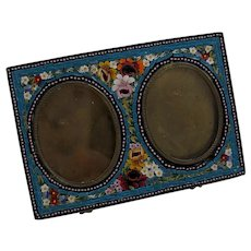 Italian Micro Mosaic Double Picture Frame