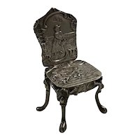 Neresheimer Hanau Germany Sterling Silver Miniature Ornate Chair 1894 London Importer Hallmark