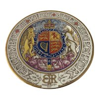 1937 Paragon Bone China Hand Painted Coronation King Edward VIII Plate