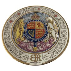1937 Paragon Bone China Hand Painted Coronation King Edward VIII Plate