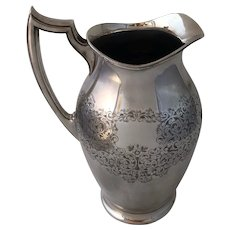 Antique Early 20th Century Birks Dingwall Silverplate Water Pitcher