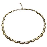 Vintage 1970s Quality Gold Plated Brutalist Design Ladies Collar Necklace