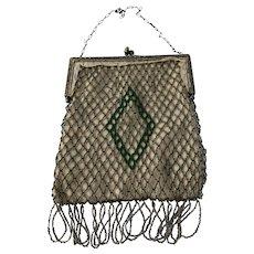 Art Deco Beaded Ladies Purse Handbag