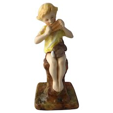 Vintage Royal Worcester Bone China 3011 Peter Pan Figurine F. Gertner