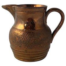 Antique 19th Century English Copper Lustre Pitcher Jug
