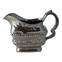 Antique 19th Century Staffordshire Pearlware Silver Luster Creamer Cream Jug Lustre