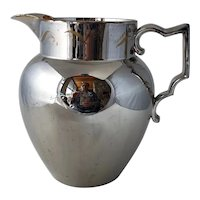 Large 19th Century Staffordshire Pearlware Silver Lustre Pitcher