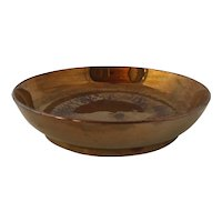 Antique 18th Century Low Wide Copper Lustre Bowl