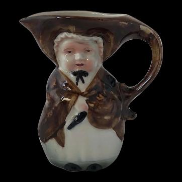 Antique Porcelain Old Lady Toby Jug