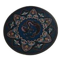 Meiji Period Japanese Cloisonne Dragon Plate