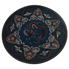Meiji Period Japanese Cloisonne Dragon Plate
