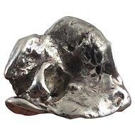 Vintage 1970s Brutalist Sterling Silver Ring