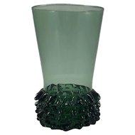 Mid Century Empoli Italy Verde Green Italian Art Glass Vase