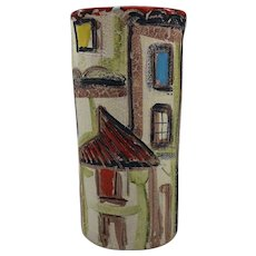 Vintage Mid Century Modern Italian Pottery Vase