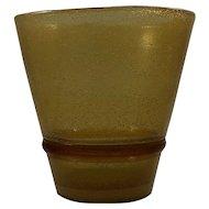 Mid Century Modern Murano Italian Art Glass Pulegoso Vase