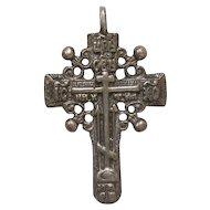 Russian silver cross, 18th Century