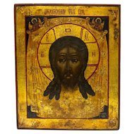 Russian Icon: Savior Not Made With Hands