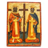 Greek Icon: Konstantin And Elena