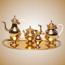 French Silver-Gilt Coffee/Tea Set