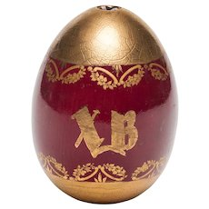 A Russian porcelain Easter egg, 19th century