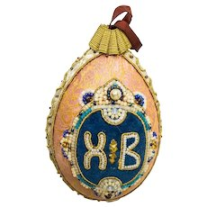 A Large Russian Easter egg, 19th century