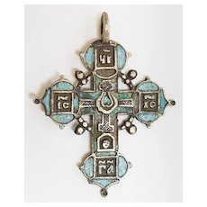 Russian silver cross 17th c.