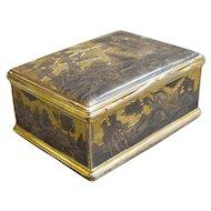 Russian Silver & Niello Tobacco Box
