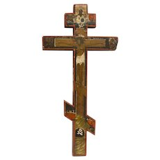 Russian Icon-Cross: Crucifixion
